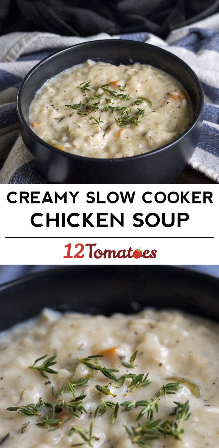 Creamy Slow Cooker Chicken Soup