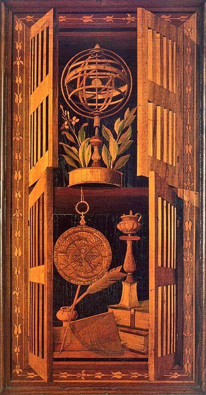 Fra Giovanni da Verona, intarsia choir stall in the monastery of Monte Oliveto Maggiore, c. 1503-05, Tuscany.