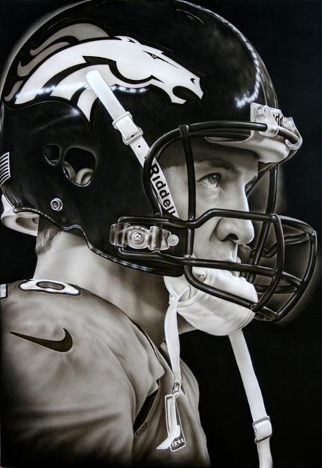 #18 Denver Quarterback Peyton Manning - My cousin's friend and former teammate. We miss you, Peyton! ~ Cindy Marcum