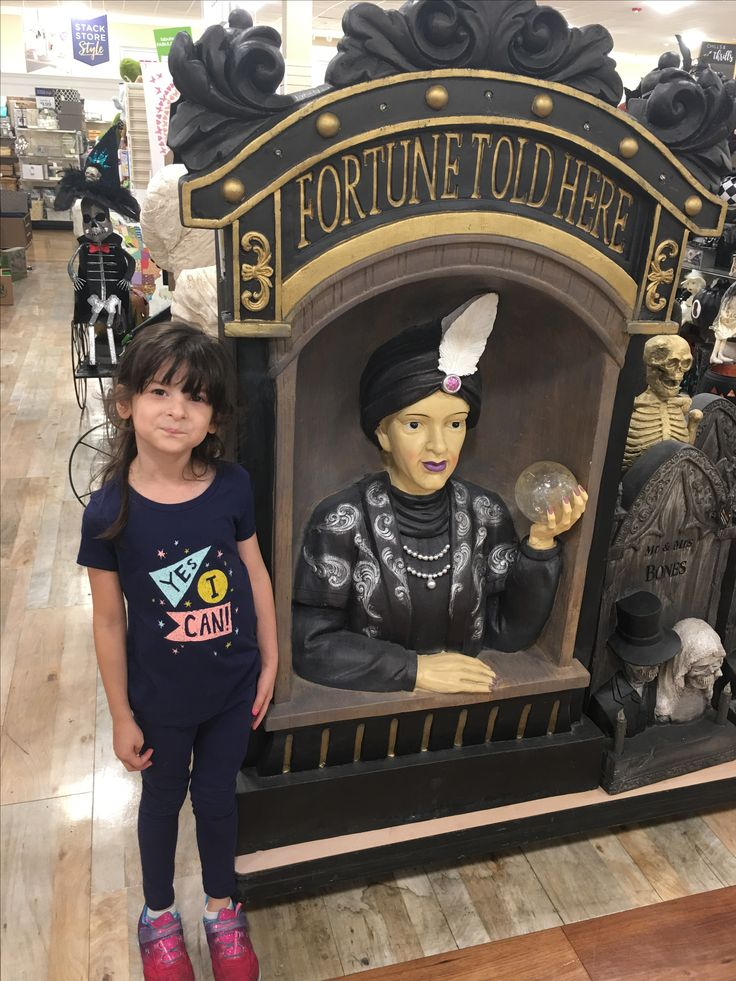 Really cool fortune teller statue at TJ Max
