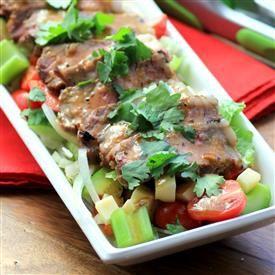 Mango Chili Steakhouse Salad [Noshing With The Nolands]