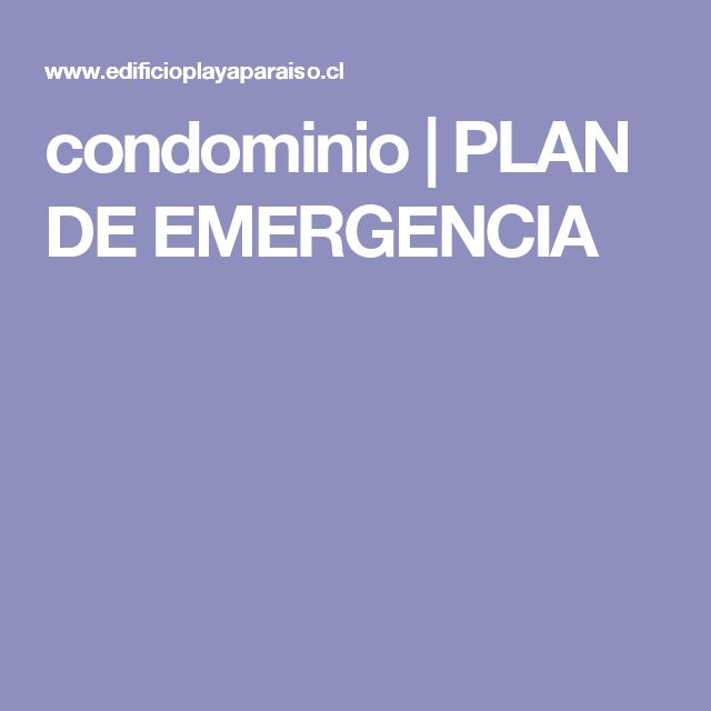 condominio | PLAN DE EMERGENCIA