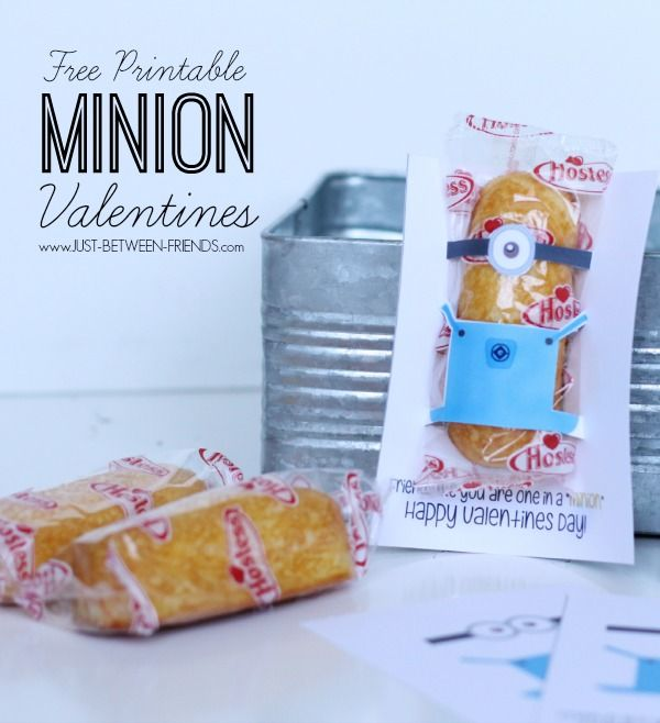 "Just Between Friends: Printable Valentine | One in a ""Minion"" #freeprintable"