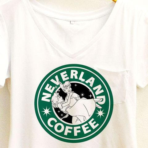 Wolf Fawn - Neverland Coffee shirt | Disney Peter Pan and Wendy Tee