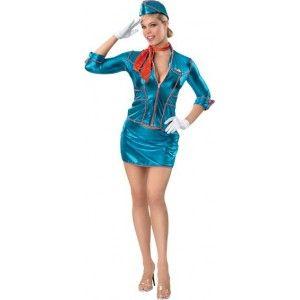 Costume hôtesse de l'air bleue sexy femme. http://www.baiskadreams.com/165-deguisement-hotesse-de-l-air-femme-deguisement-adulte.html