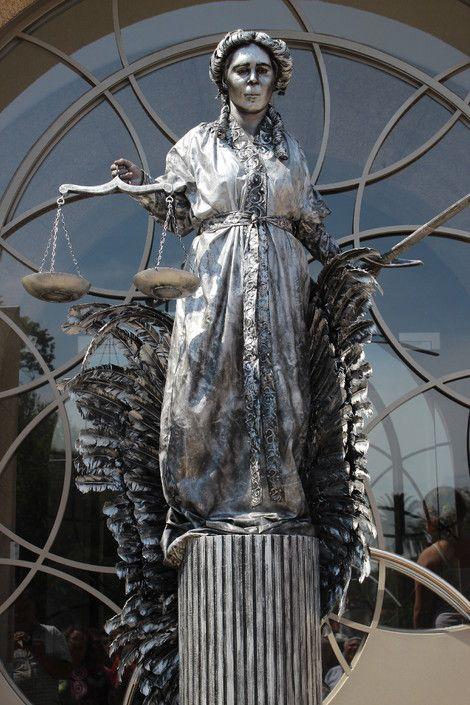 Justice Living Statue