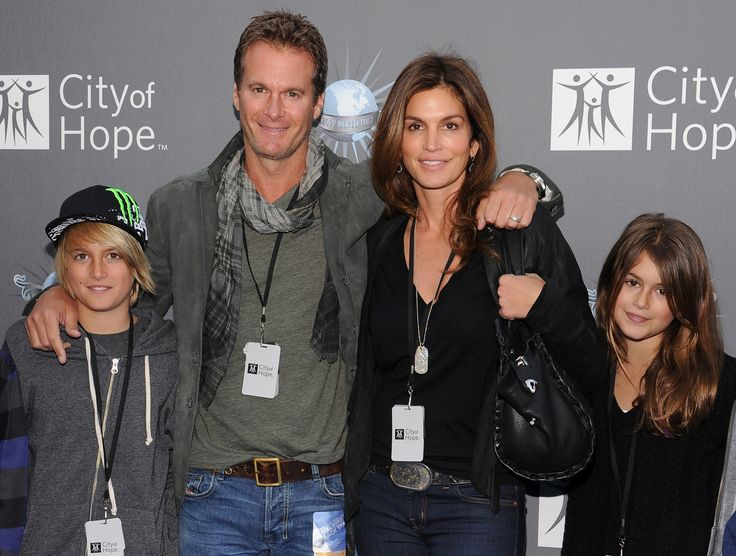 Rande Gerber & Cindy Crawford w/ childern Presley Walker Gerber & Kaia Jordan Gerber in May 2011.