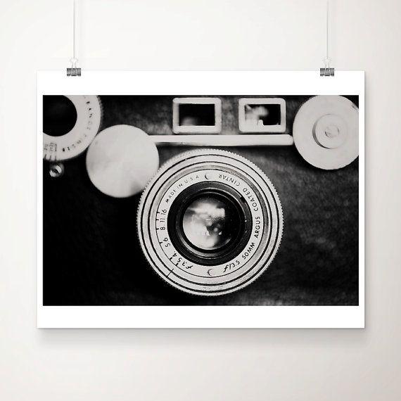 camera photograph, black and white photography, camera, minimalist, geometric, lens, retro, hipster decor