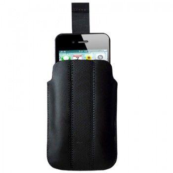 Black Leather Stylish iPhone Case