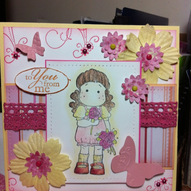 Bday card for a girlfriend who loves magnolia k stamps