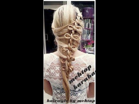 wie mache ich schleifen in den haaren ..hair tutorial ..braid hairstyles ..schleifen ...flechtfrisuren hairstyle by mehtap ..mehtap karabacak .degisik örgü modeli aciklamasi..sacta kurdele..