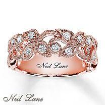½ ct tw Diamond Ring Round-Cut 14K Rose Gold - Neil Lane