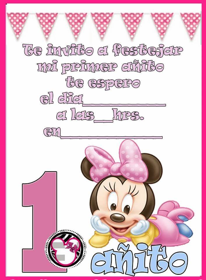 Tarjetas Infantiles Birthday Minnie Invitaciones Minnie