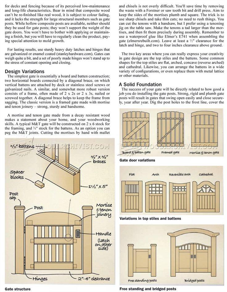 #25 Entrance Gates Plans - Outdoor Plans