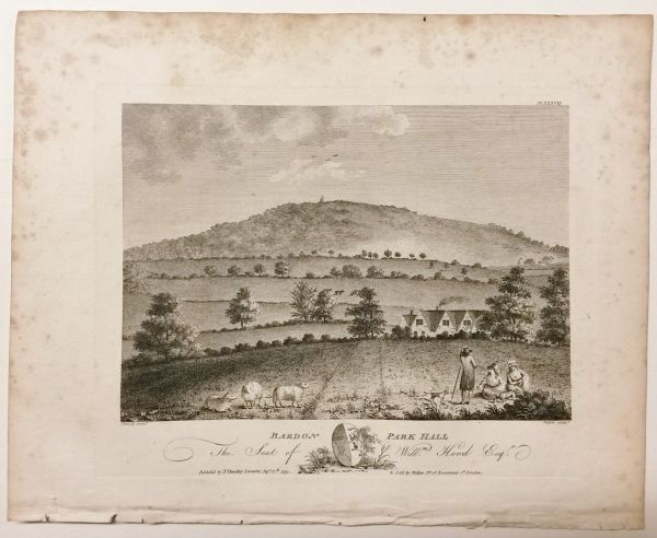Bardon Park Hill Bradgate Old John Leicestershire 1791 Antique Print