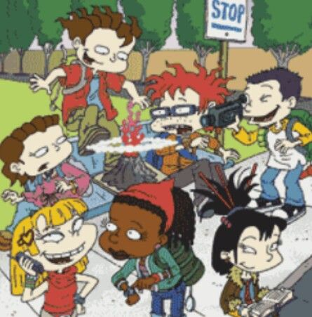 "Childhood Nickelodeon cartoon, ""Rugrats: All Grown Up""."