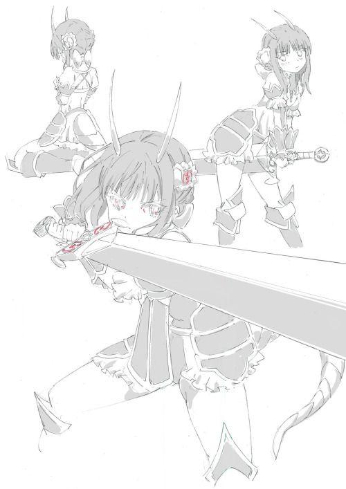 飯野まことさんのツイート: 魔法少女育成計画キャラクター可愛いなー女の子に大型武器って組み合わせいいよね...