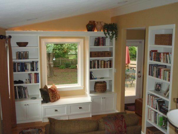 7 best pete rachel study images on pinterest bedroom ideas my - Window Seat With Bookshelves