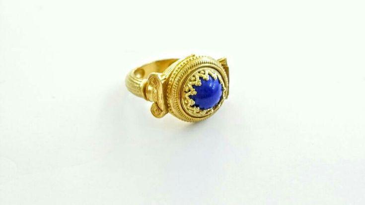 "★★★★★ ""Beautiful ring, super-fast shipping, will buy again! Cheers, G "" George V. #etsy #jewelry #ring #lapislazuli #greekjewelry #handmade #madeingreece #greece #ancientgreece #ioniccolumns http://etsy.me/2D69bHt"