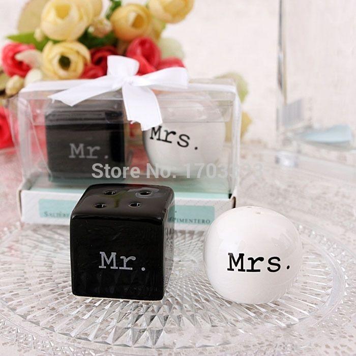 DHL Fedex Бесплатная доставка 200 шт./лот = 100 sets новые свадебные сувениры г-н & Г-Жа соль перец шейкер керамической свадебный подарок для гостей