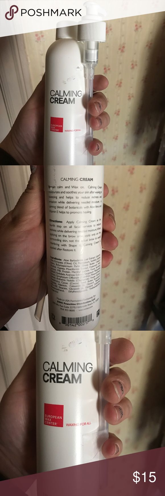 Calming Cream By European Wax Center Calming Cream By European Wax Center. NEW 8oz European Wax Center Makeup