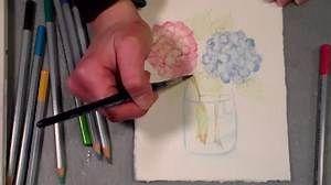 LIVE! Watercolor Pencil 101 // 12:30pm ET Today!