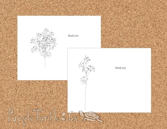 Printable Greeting Card Download Thank You Card Baby's