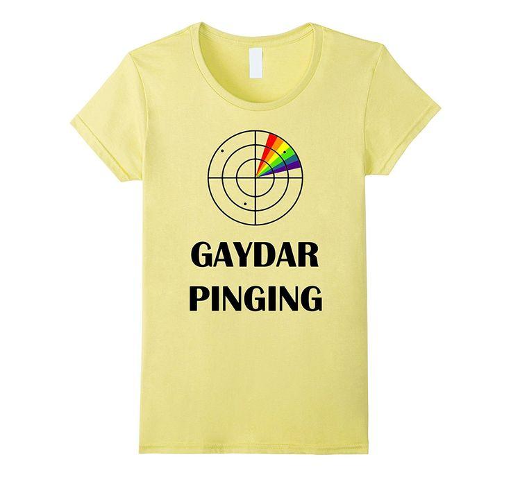 gaydar pinging lgbt center rainbow gay pride flag t shirt