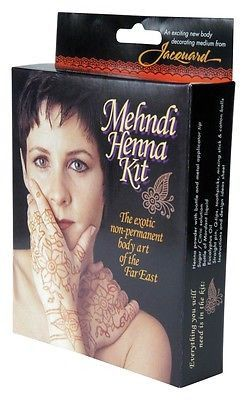 Mehndi Henna Kit,from Jacquard Not for use by children 12 years and under. Adult supervision advised. Non Permanent Mehndi art disappears from the skin within 7 to 12 days. Everything you will need is