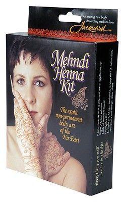Mehndi Henna Kit Temporary Tattoo Non Permanent Body Art Jacquard