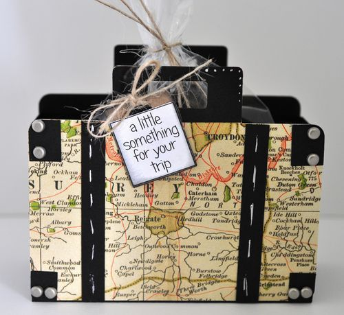 Suitcase treat box 1. Click on link to purchase template. http://thecuttingcafe.typepad.com/the_cutting_cafe/2013/03/suitcase-treat-box-template-cutting-file.html