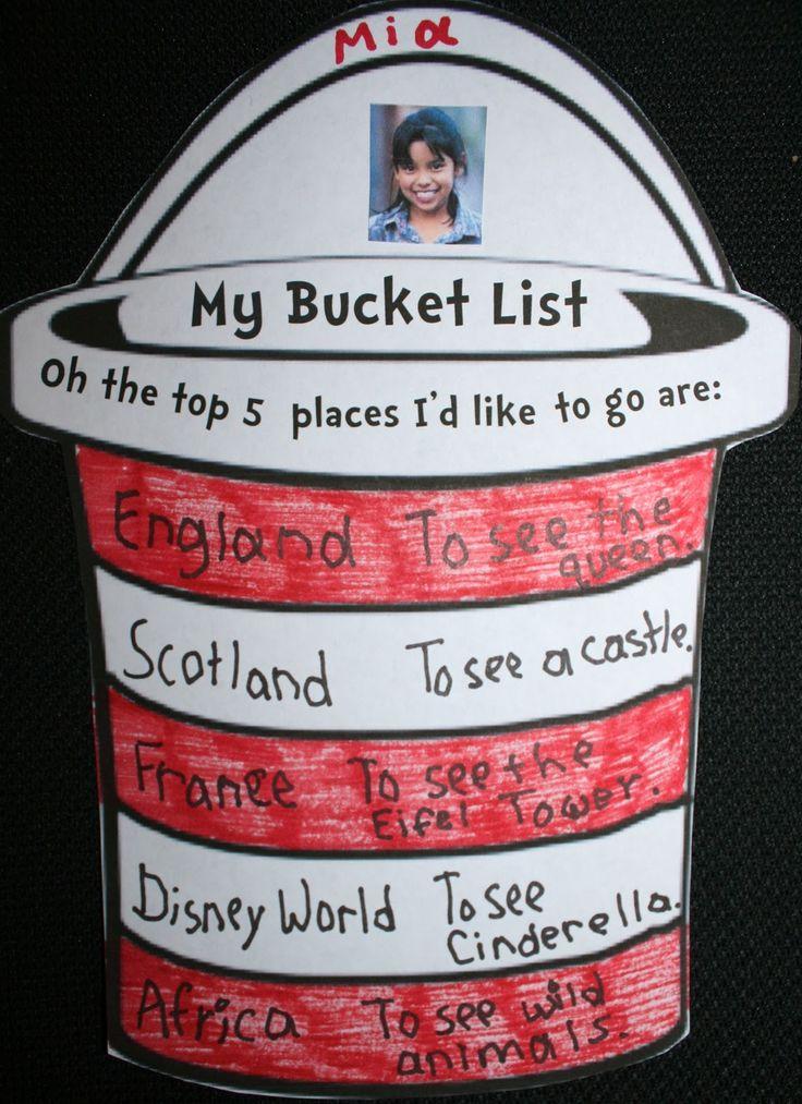 Classroom Freebies: My Bucket List: Writing Prompt Craftivities
