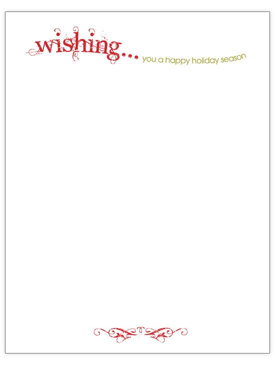 Wishing - Christmas letter template