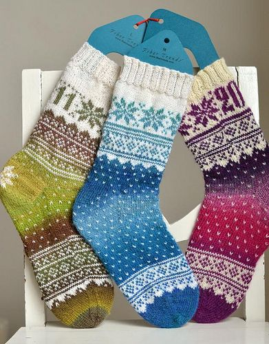Snowflake Socks.....instructions are not in English
