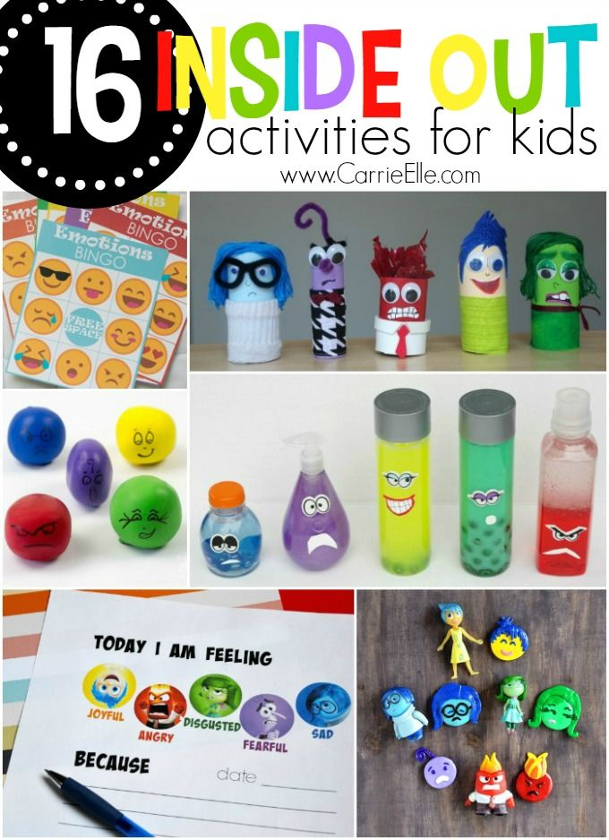 Here are 16 fun Inside Out activities for kids - these are great ways to teach kids about emotions!