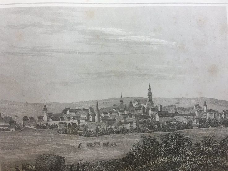 Annons på Tradera: Hain Tyskland Antik Etsning Topografisk Plansch 1840 Das kleine Universum