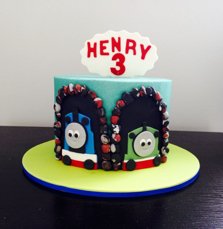 Thomas and Henry The Tank Engine Cake   Http://www.wishbig.weebly.com