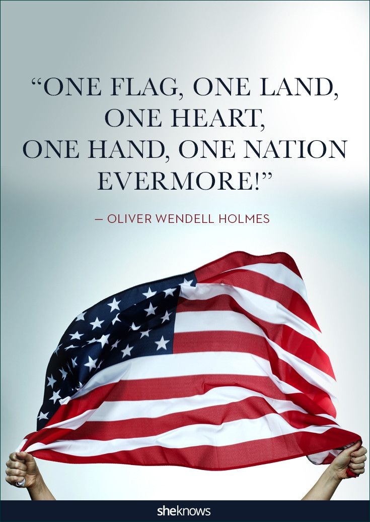 Oliver Wendell Homes included this line in one of his famous poems back in the 1800s. #patriotic #Quotes #4thofjuly