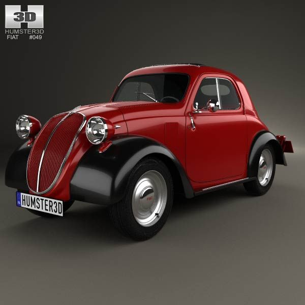3D model of Fiat 500 Topolino 1936 based on a Real object, created according to the Original dimensions. Available in various 3D formats. Download.
