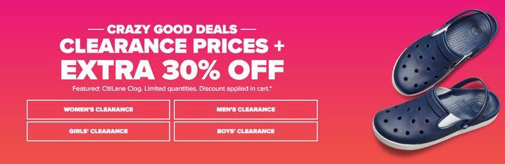 Crocs Canada Sale: Clearance Prices  EXTRA 30% Off http://www.lavahotdeals.com/ca/cheap/crocs-canada-sale-clearance-prices-extra-30/215758?utm_source=pinterest&utm_medium=rss&utm_campaign=at_lavahotdeals