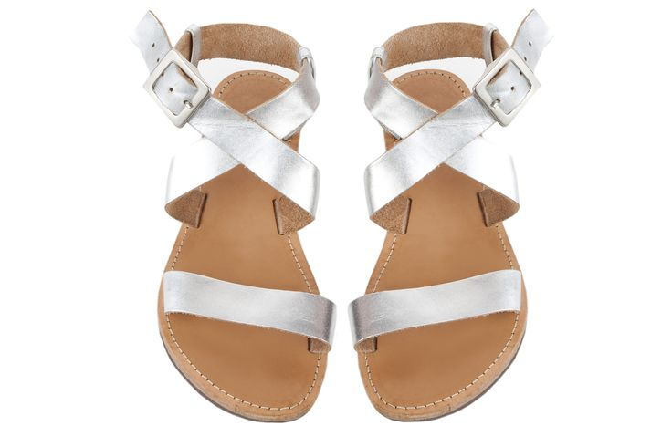 Isapera sandals : St. John in Silver