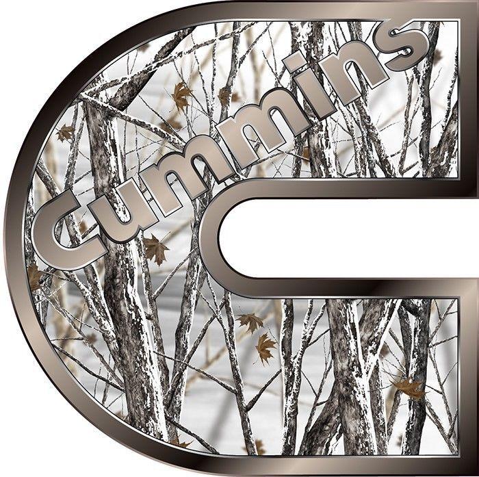"Picture of Cummins Camo Snow Storm 14"" Truck Window Decal Sticker Dodge Ram Truck SUV Van"
