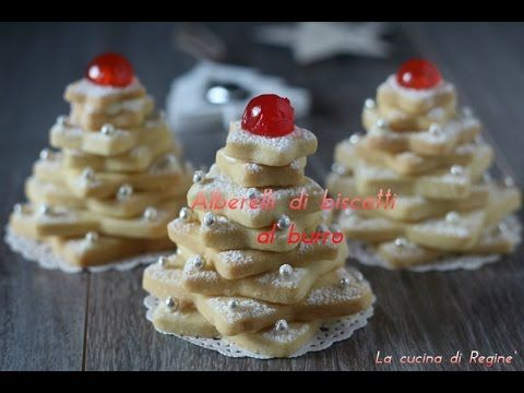 Alberelli di biscotti al burro   La cucina di Reginé ☼
