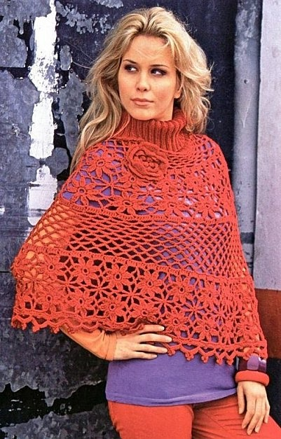 """Beautiful """"Poncho""""...there's a chart!"""