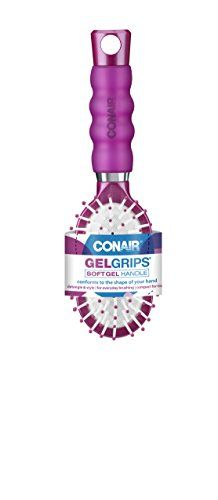Conair Hair Brush, Gel Grip, Cushion, Mid-Size. For product & price info go to:  https://beautyworld.today/products/conair-hair-brush-gel-grip-cushion-mid-size/