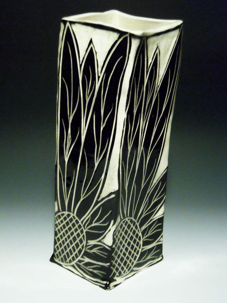 Sgraffito Vase By Linda Ellard Brown My Work Pinterest