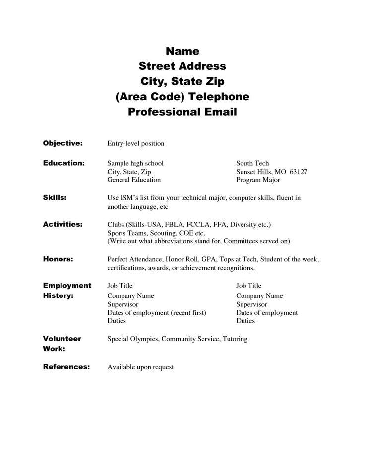 high school resume skills examples