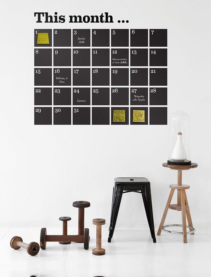 Ferm Living - Naklejki ścienne - Kalendarz