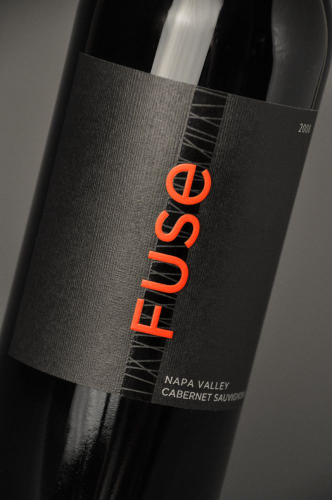 label / FUSE wine packaging by Jeff Hester