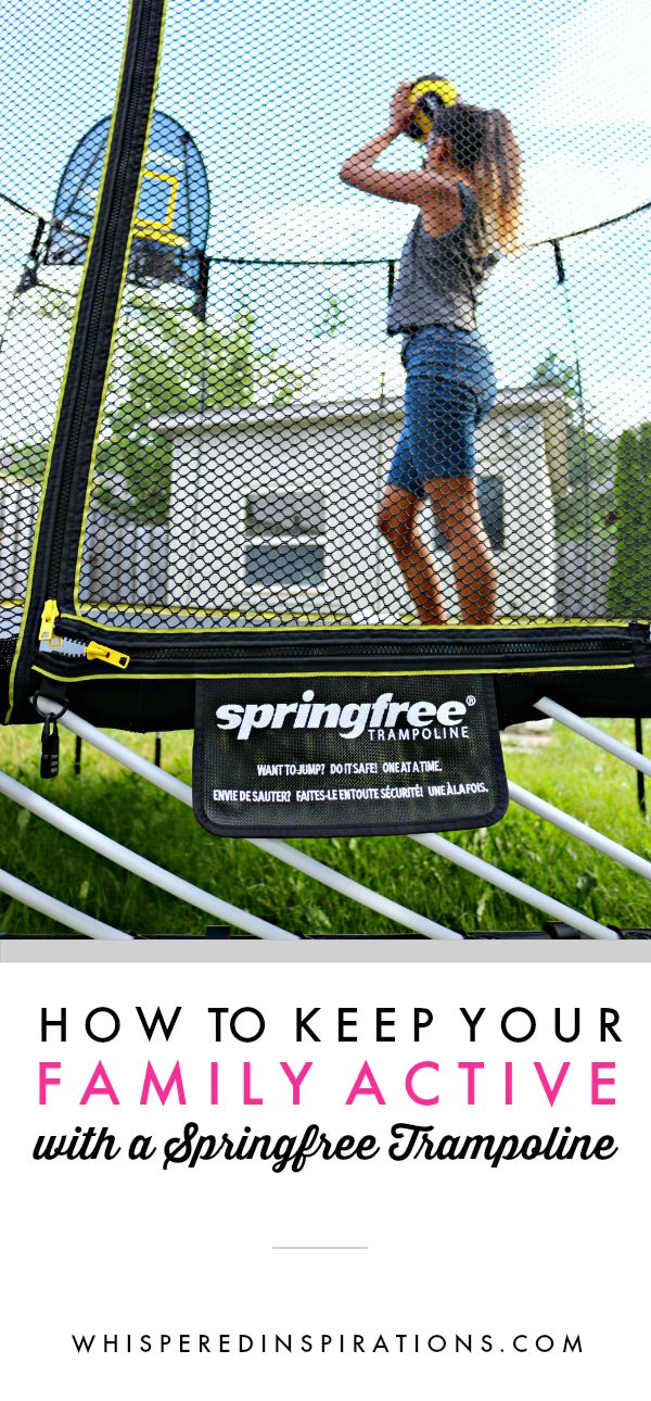 Keep Your Family Active with a Springfree Trampoline! Is it right for you? See why it changed my mind on safety & how you can keep the whole family active!